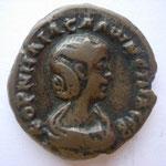 tetradrachme, Alexandrie 266-267, Avers: KORNHLIA SALwNEINA SEB