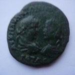 Pentassaria de Marcianopolis, 12.02 g, légat FL ULPIANUS, Avers: bustes affrontés de Caracalla à g et Geta à dr