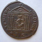 Revers: CONSERV - VRB SVAE / REQ, SUP, Rome ds un templs