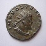 Antoninien, Milan 1ére off 268, , Avers: IMP C POSTUMUS P F AUG