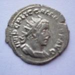 antoninien, 3.06 g, 2e ém printemps 254-fin 254, Avers: IMP C P LIC GALLIENVS AVG buste cuirassé à droite