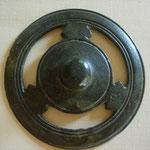 objet de décoration en bronze (armure ?) romain, époque indéterminée.