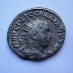 antoninien, 254-255, 3.39 g, Avers: IMP C P LIC GALLIENVS AVG buste drapé cuirassé à droite