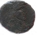 Poemenius pour Constance II, 5.22 g, maiorina, Trêves 1ére off, 353, Avers:( D N CONSTANTIVS P F AVG )