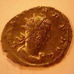 antoninien, 2.64 g, 2e ém 259 - août 260, Avers: GALLIENUS P F AVG buste à droite
