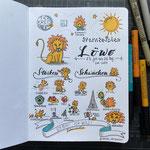 Sternzeichen Löwe (bald als Postkarte bei Kraejen Druck)