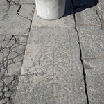 Ornamente am Boden des Buleuterions