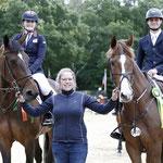 odie Hall Mcateer op Colette en Bas Moerings op Fasther winnen 1.40m IJsboerderij 'n Mors prijs voor junioren