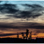 """""""Wolken überm Abendrot"""" von Klaus Fuchs, 2. Platz (10/2013)"""