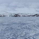 Kleifarvatn im Eismantel, Reykjanes, Südwestisland (März 2014)