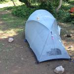 自慢のテント。ノースフェイス