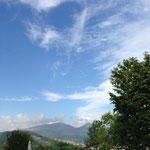 高原の空は清々しい