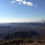 吾妻山から眺める桐生市内
