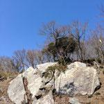 浅間神社の巨大岩