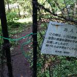 湿原内は小動物から植物を守るため策があります(開けたら必ず閉めてください)
