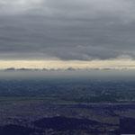 雲が多かった