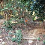 大中寺の右奥が登山口になります
