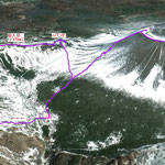 3D登山ルート by Google Map