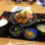 牡蠣フライ定食!うまいね~