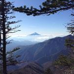 時々見える富士山