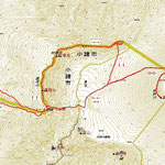 登山ルート by 国土地理院地図