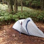 ノースフェイスのブルフロッグ23 10年前ぐらいのテントです