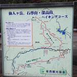 ハイキングマップ(駐車場など)