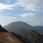 遠くから眺める茶臼岳