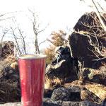 立身石で絶景を眺めながらのコーヒーは美味