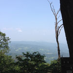晃石山から日光連山が見えるのですが、PM2.5で見えません