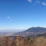 ここからの筑波山が最高