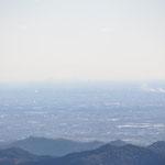 かすかに新宿の高層ビル群が見えました