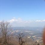 晃石山から日光連山の眺め