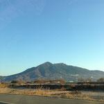車窓から見える筑波山!テンション上がります