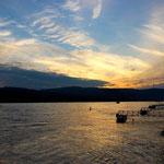 Sonnenuntergang mit Rhein