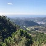 Bergstrasse auf dem Weg von Ronda zu Mittelmeer