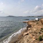Blick auf die Bucht von Puerto de Mazarrón