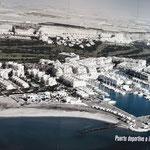 Luftbild im Lidl der Region, vorne der WoMo SP-