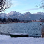 Hopfensee mit Alpenblick
