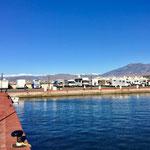 Jachthafen mit WoMo SP auf der Mole
