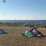 Reichlich Wind für Kiter und Surfer
