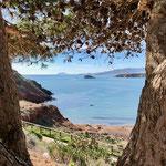 Blick auf die Buchten bei Bolnuevo