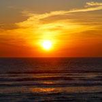 Sonnenuntergang in Mimizan Plage