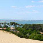 Blick auf Cap Ferret von der Dune du Pilat