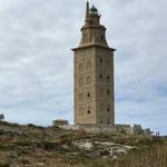 Herkulesturm in A Coruña, das Wahrzeichen am Atlantik