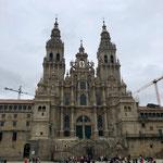 Santiago de Compostela mit Pilgern