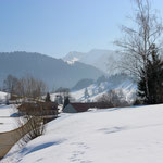 Winterlandschaft in Steibis