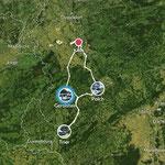 Strecke der Tour