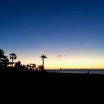 zur Abwechslung mal einen Sonnenaufgang, derzeit gegen 7.45 h