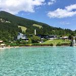 Freibad in Oberammergau mit Alpenwasser, ein Highlight